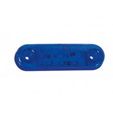 Parmak Led Lamba Oval 9 Ledli Mavi